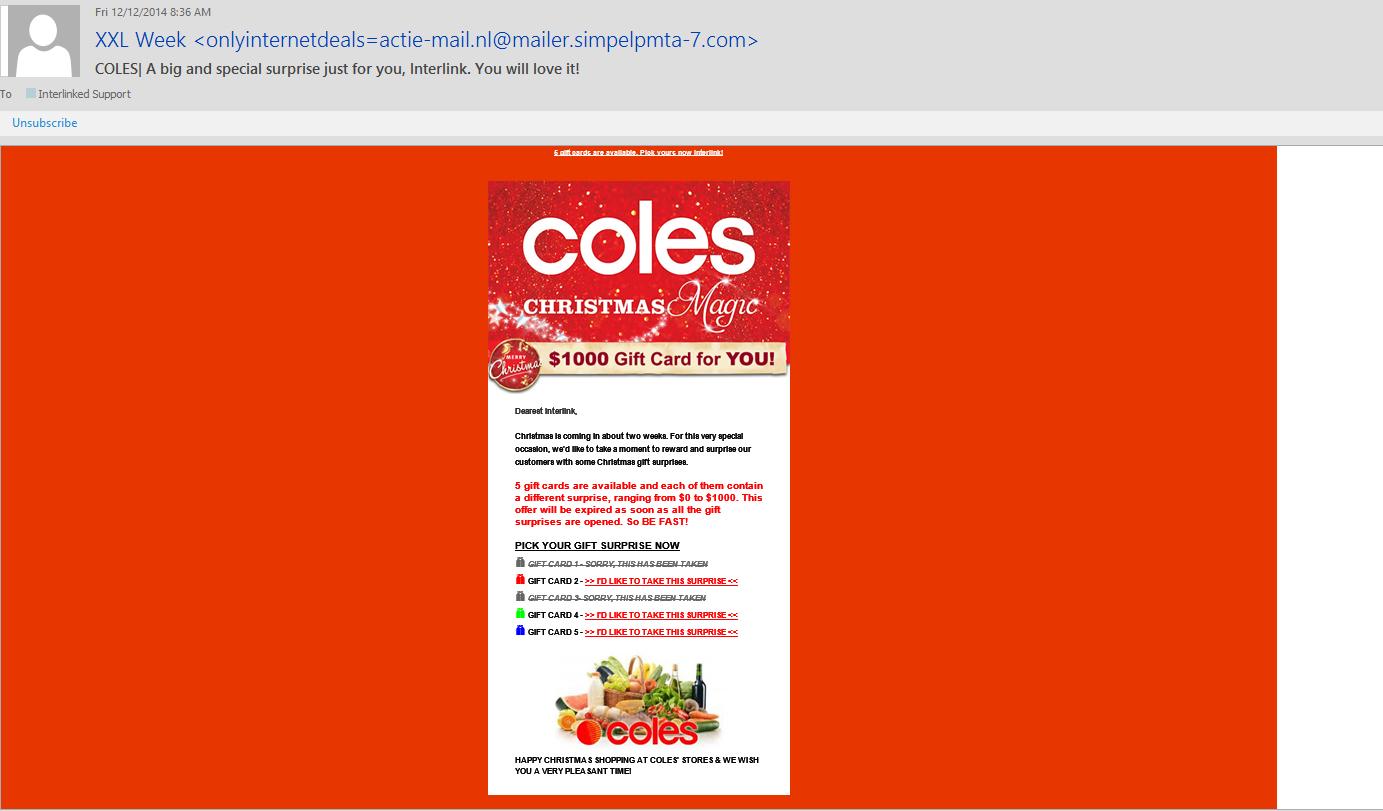 Coles Christmas Surprise