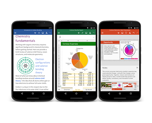 Office 365 for Android Phones